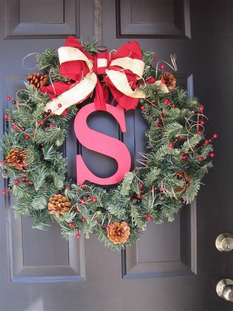 winning wreath easy diy monogram holiday wreath