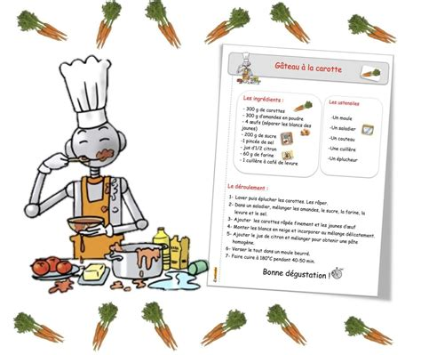 resette de cuisine recettes de cuisine pour la classe bout de gomme