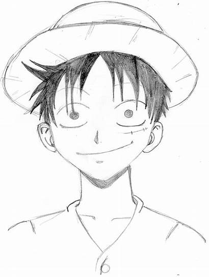 Luffy Piece Coloriage Manga Imprimer Dessin Dessiner