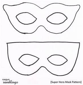 Super Hero Mask Pattern and Tutorial - Rae Gun Ramblings