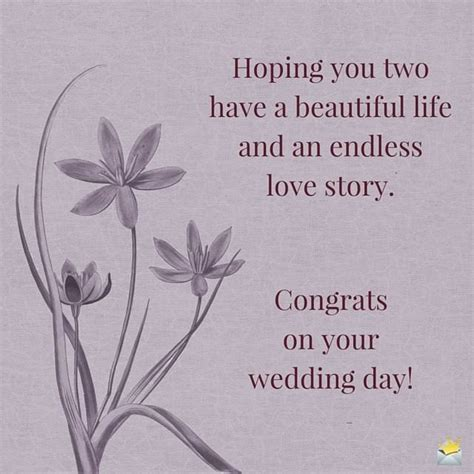 Congratulations On Your Wedding Day Wishes