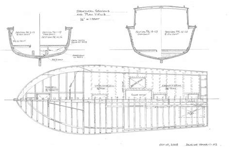 Skiff Boat Drawings by Navesink Maritime Heritage Association Sea Bright Skiff