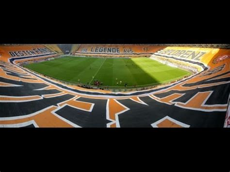 Sg dynamo dresden would become one of the main rivals of bfc dynamo, and the 1970s would largely belong to sg dynamo dresden, followed by 1. Huge Dynamo Dresden full stadium flag HD - YouTube