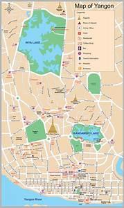 Burma Map Tourist Attractions