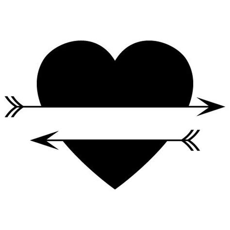 The most common free heart svg material is metal. Free SVG Files   SVG, PNG, DXF, EPS   Split Love Heart Arrows