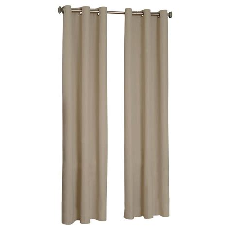 Curtain Grommet Kit Home Depot by Eclipse Gum Eclipse Microfiber Blackout Beige Grommet