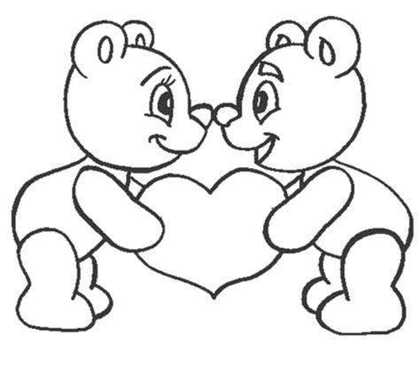 bajar gratis dibujos de osos y corazones para colorear pintar ositos dibujos