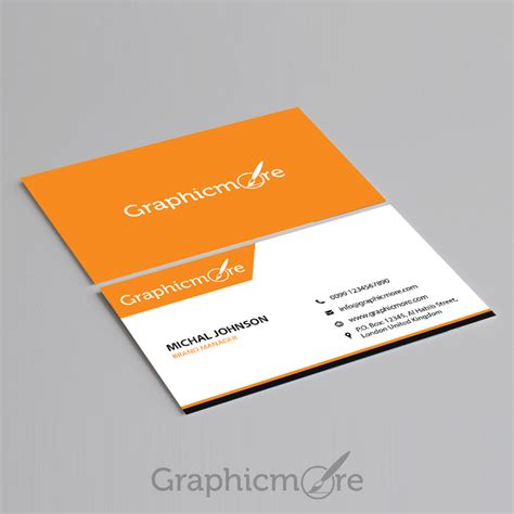 visiting card design template psd file corporate business card template design free psd file