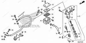 Honda Motorcycle 2014 Oem Parts Diagram For Rear Brake