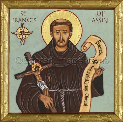 st francis of assisi icon francis of assisi ready to frame print catholic