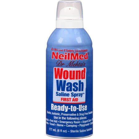 neilmed wound wash saline spray  fl oz walmartcom