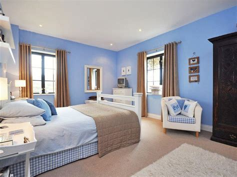 Blue Master Bedroom, Modern Blue Master Bedroom Cafubaye