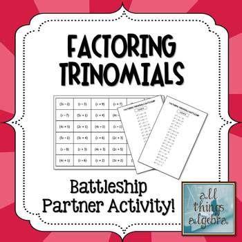 Battleship Factoring Trinomials Partner