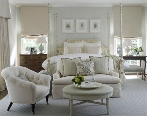 Love Seat And Chair At Foot Of Bed As A Small Sitting Area