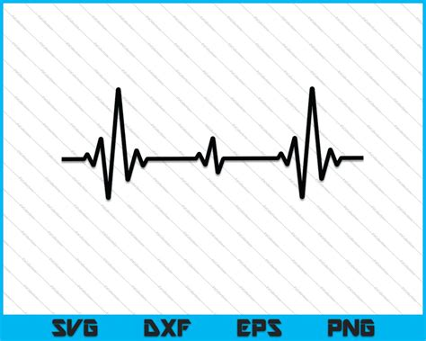 Heartbeat SVG PNG Cutting Printable Files - creativeusart