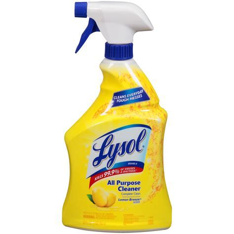 Lysol All Purpose Cleaner, Disinfectant, Lemon Breeze, 32
