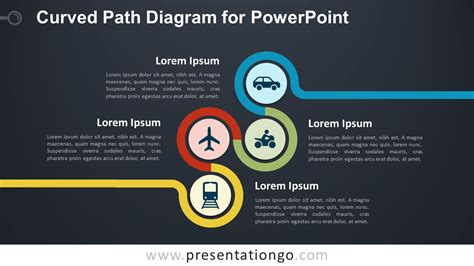 curved path diagram  powerpoint presentationgocom