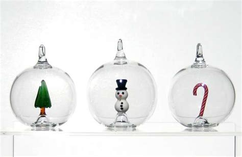 hand blown holiday spheres christmas glass ornaments