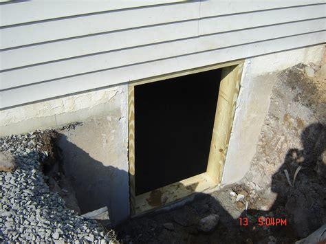 Egress Basement Window Construction Breyer Construction