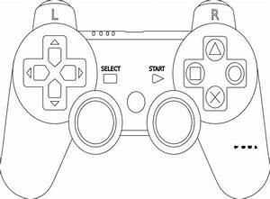 game controller coloring page impulse control pinte With controller photo