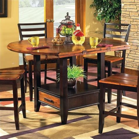 steve silver abaco drop leaf counter height dining table