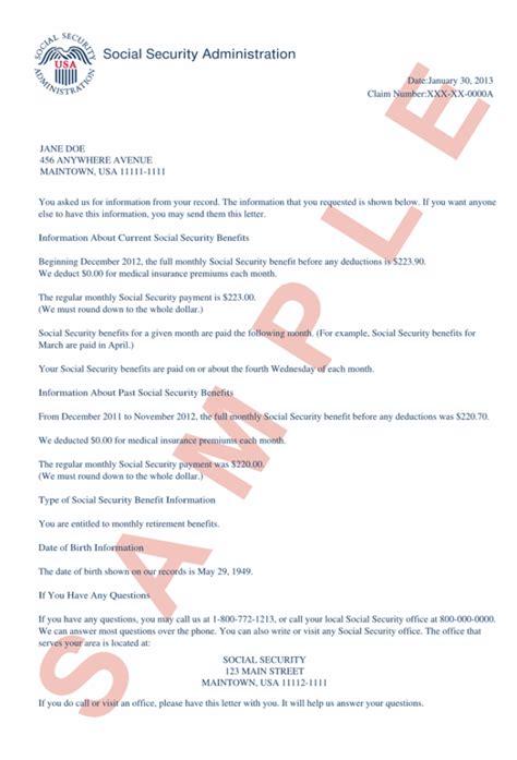 social security award letter fresh ssa benefit letter cover letter exles