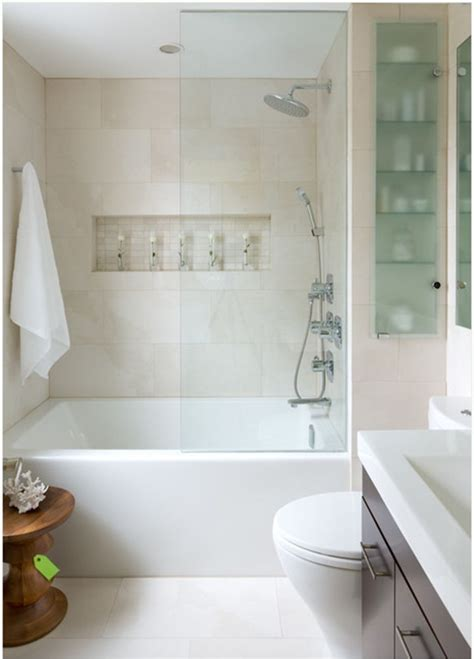 small bathroom with tub soaking tub shower combo new house pinterest tubs shower walls and glass shelves