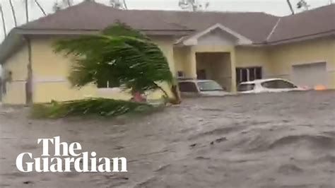 hurricane dorian batters bahamas  severe flash floods