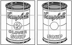 Ode To Warhol Soup Can Mural Diagram