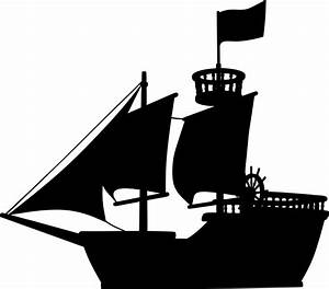 Clipart - Medieval Ship Silhouette
