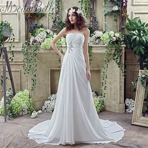 Summer 2016 chiffon a line casual beach wedding dress boho for Casual boho wedding dress
