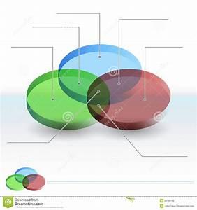 3d Venn Diagram Sections Stock Vector  Illustration Of