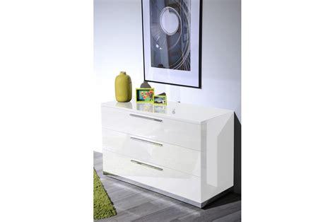 chambre d adulte complete meuble commode laqué blanc design trendymobilier com
