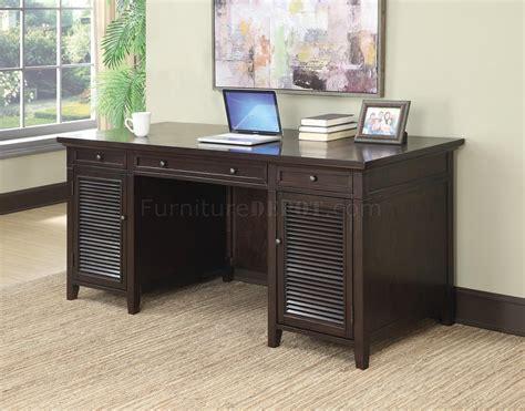 office desk  dark brown  coaster wpower outlet