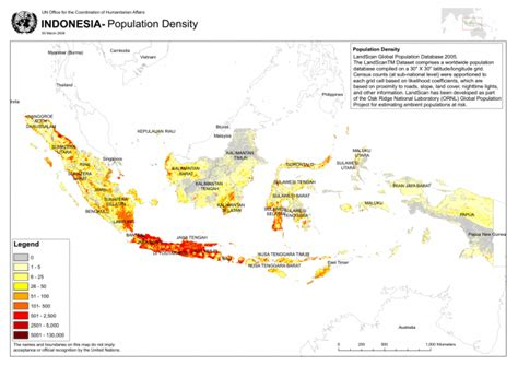 indonesia population density  indonesia reliefweb