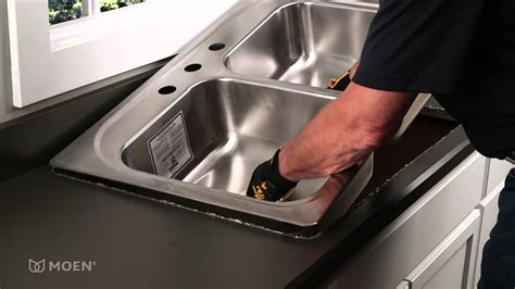 how to install a dual mount kitchen sink how to install a stainless steel drop in sink moen