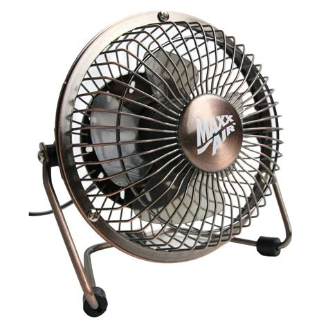 max air pro fan maxxair 4 in usb desk fan in bronze hvdf4ups the home depot