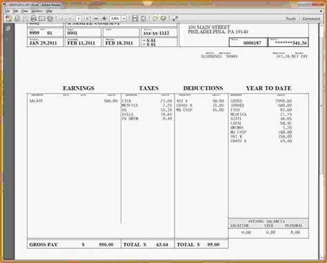 hourly wage  log  pay stub template word