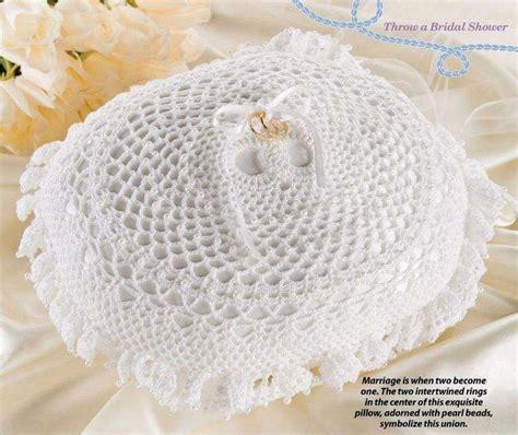 w039 crochet pattern only wedding ring bearer pillow anniversary patterns contemporary