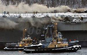 Russia's only carrier, damaged in shipyard accident, now ...