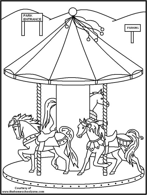 Kleurplaat Cing Tent by Carnival Rides Coloring Pages And Print For Free