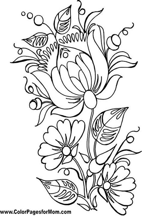 Flower Coloring Page Flower 86 Coloring pages Flower