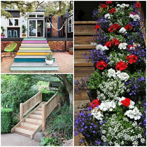 Gartentreppe Holz  Dekoideen Für Eine Schöne Gartengestaltung