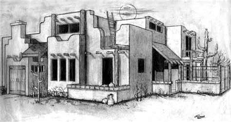 Adobe House Drawing At Getdrawings.com