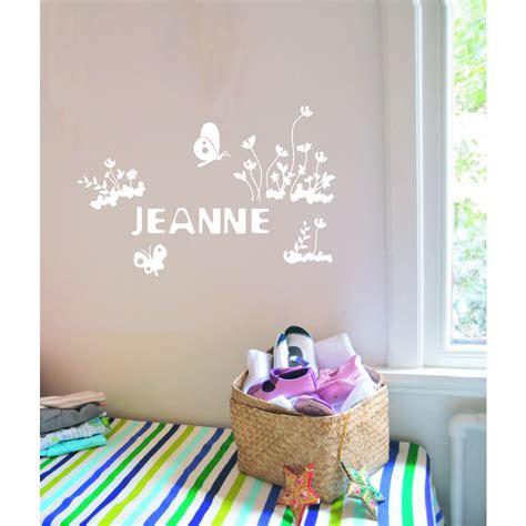 stickers chambre bébé personnalisé deco chambre fille prenom gawwal com