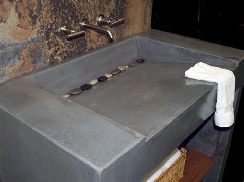 concrete vanity and sink modern vanity tops and side