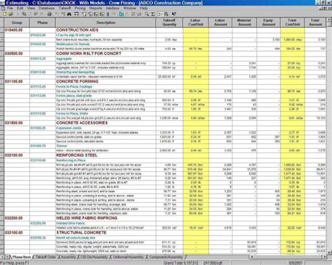 construction project management spreadsheet  excel