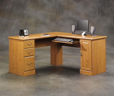 Menards Sauder Computer Desk by Sauder Orchard Carolina Oak Corner Computer Desk At