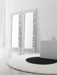Beautiful Miroir Mural Blanc Simili Cuir Strass Ideas - Amazing ...