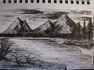 Image Gallery mountain scenery drawings